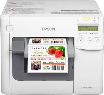 Epson C3500, Impresora de Etiquetas, 720 x 360 DPI, USB 2.0, Blanco