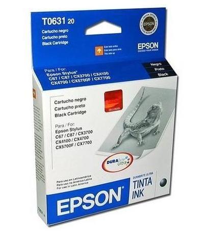 Cartucho Epson T063120 Negro, 250 Páginas