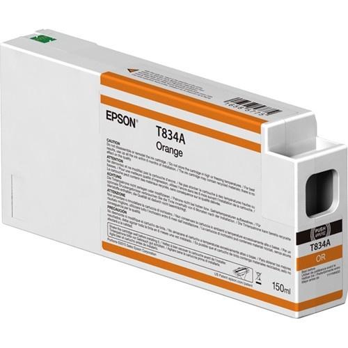 Cartucho Epson UltraChrome HDX T834A00 Naranja 150ml