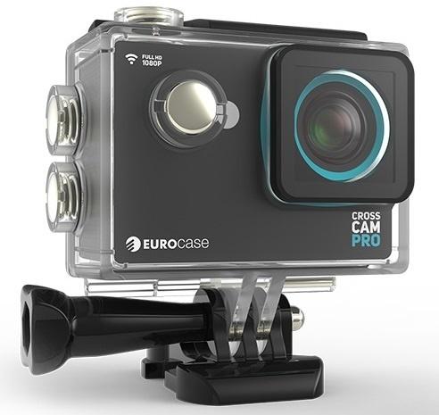 Cámara Deportiva Eurocase Cross Cam Pro, 12MP, FullHD, MicroSD max. 32GB, Negro