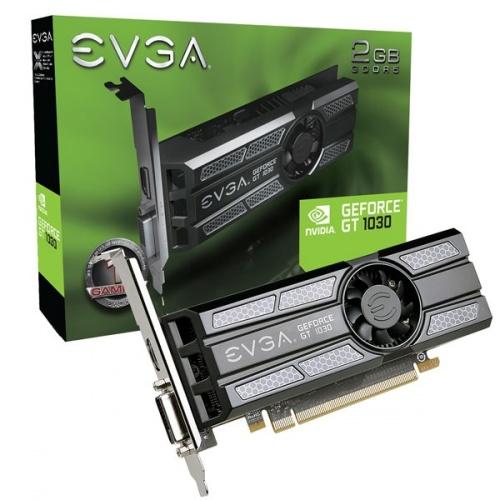 Tarjeta de Video EVGA NVIDIA GeForce GT 1030, 2GB 64-bit GDDR5, PCI Express x16 3.0