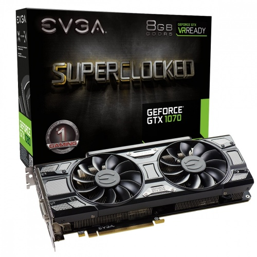Tarjeta de Video EVGA NVIDIA GeForce GTX 1070 SC Gaming, 8GB 256-bit GDDR5, PCI Express 3.0 ― ¡Recibe Fortnite Counterattack Set!