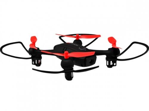 Drone Evorok Eagle II con Cámara 1MP, 4 Rotores, 80 Metros, Negro/Rojo