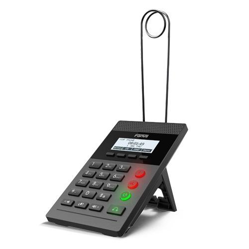 Fanvil Teléfono IP con Pantalla LCD Monocromo X2CP, 2 Líneas, Negro