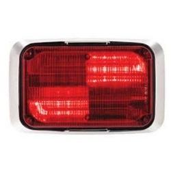 Federal Signal Estrobo Quadraflare, LED, 12V, Rojo