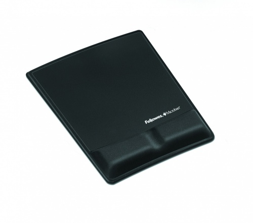 Mousepad Fellowes con Descansa Muñecas, 19.8x25.6cm, Grosor 18mm, Negro