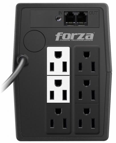 No Break Forza Power Technologies NT-511, 250W, 500VA, Entrada 120V, 6 Contactos