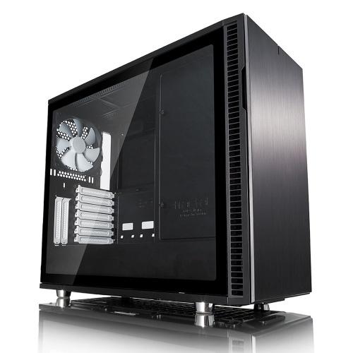 Gabinete Fractal Define R6 USB-C con Ventana, Midi-Tower, ATX/EATX/ITX/Micro-ATX, USB 2.0/3.1, sin Fuente, Negro
