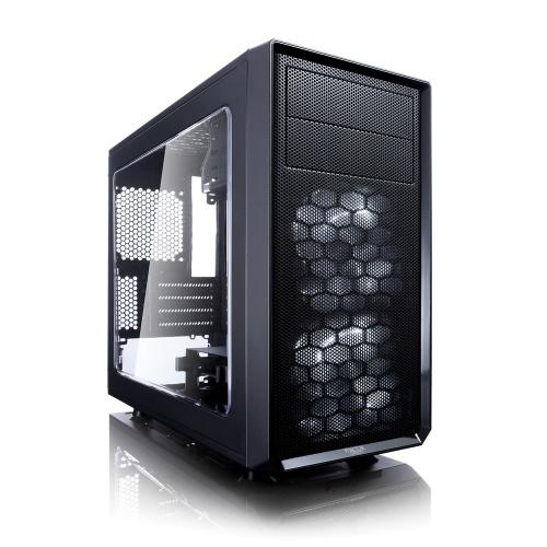 Gabinete Fractal Design Focus G Mini con Ventana LED Blanco, Mini-Tower, ITX/Mini-ATX, USB 2.0/3.1, sin Fuente, Negro