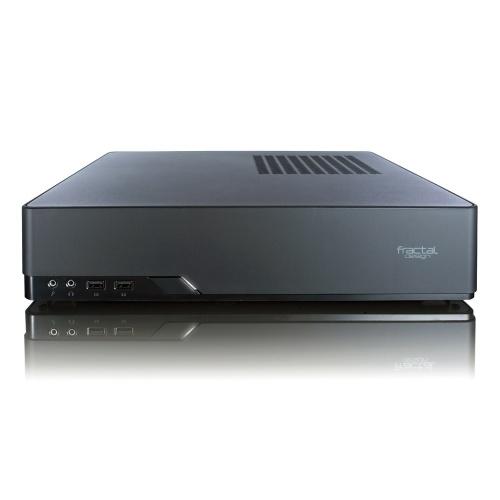 Gabinete Fractal Design Node 202, Micro-Tower, Mini-ITX, USB 3.0, incluye Fuente de 450W, Negro