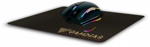 Mouse Gamer Gamdias Óptico ZEUS E1, Alámbrico, USB, 3200DPI, Negro + Mousepad NYX E1