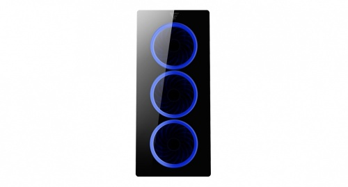 Gabinete Game Factor CSG501 con Ventana RGB, Micro-Tower, ATX/Micro-ATX/Mini-ITX, USB 2.0/3.0, sin Fuente, Negro