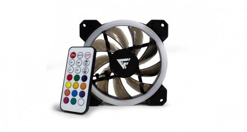 Ventilador Game Factor FKG400 RGB, 120mm, 1500RPM, Negro, 3 Piezas