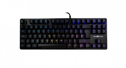 Teclado Gamer Game Factor KBG500 RGB, Teclado Mecánico, Switch Outemu Red, Alámbrico, Negro (Español)