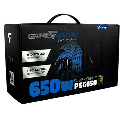 Fuente de Poder Game Factor PSG650 80 PLUS Bronze, 20+4 pin ATX, 120mm, 650W, Negro ― ¡Compra y participa para ganar Silla Gamer de Game Factor!