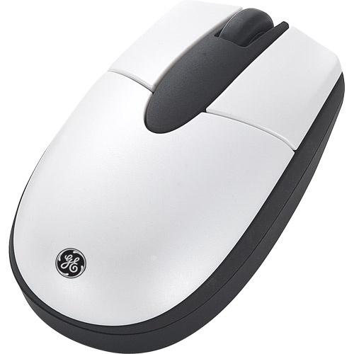 Mouse GE Óptico HO98763, Inalámbrico, 800DPI, Blanco