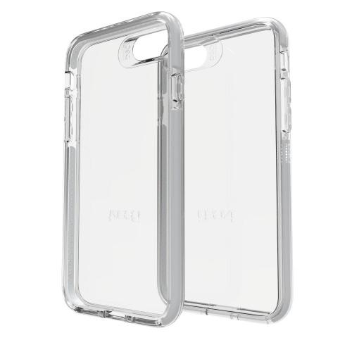 Gear4 Funda de Policarbonato Bank para iPhone 7/8, Gris/Transparente