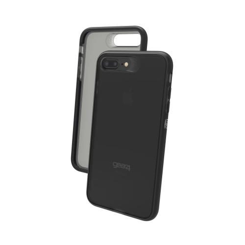 Gear4 Funda de Policarbonato Bank para iPhone 7/8, Negro/Transparente
