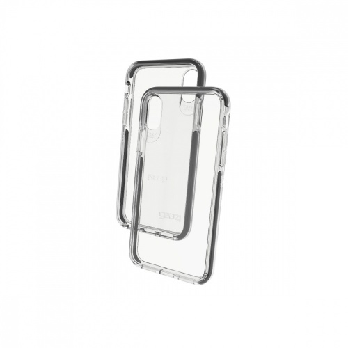 Gear4 Funda de Policarbonato Piccadilly para iPhone X 5.8'', Negro/Transparente