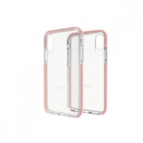 Gear4 Funda de Policarbonato Piccadilly para iPhone X 5.8'', Oro/Rosa