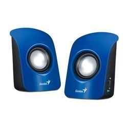 Genius Bocinas Estéreo USB SP-U115, Alámbrico, 2.0, 1.5W RMS, Azul
