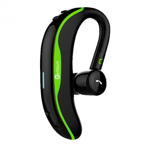Getttech Manos Libres Intune, Bluetooth, Inalámbrico, Negro/Verde