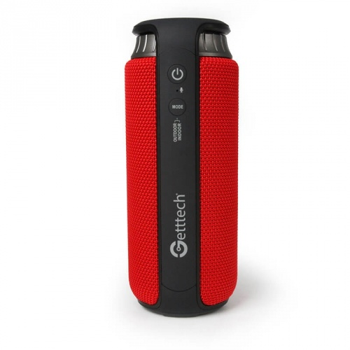 Getttech Bocina Portátil Soundcup Beat, Bluetooth, Inalámbrico, 2.0 Canales, 24W RMS, Negro/Rojo