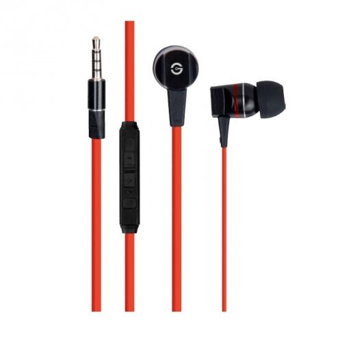 Getttech Audífonos Intrauriculares MI-2140R, Alámbrico, 1.2 Metros, 3.5mm, Rojo