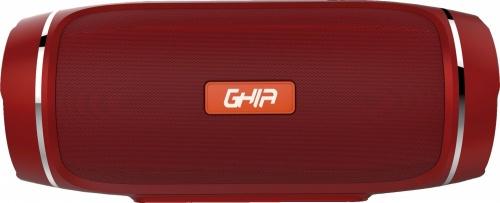 Ghia Bocina Portátil BX300, Bluetooth, Inalámbrico, 40W RMS, USB, Rojo - Resistente al Agua
