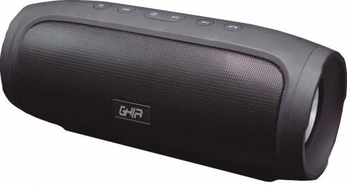 Ghia Bocina Portátil BX400, Bluetooth, Inalámbrico, 8W RMS, USB, Negro