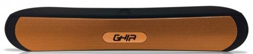Ghia Bocina SPK-1446, Bluetooth, Alámbrico/Inalámbrico, 2.0 Canales, 6W RMS, Negro/Naranja