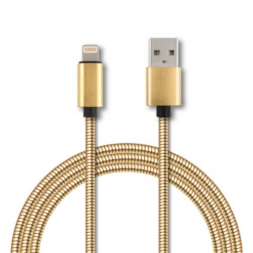 Ghia Cable GAC-089 USB A Macho - Lightning, 1 Metro, Dorado, para Apple