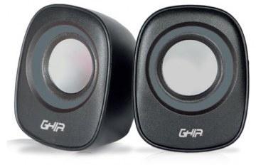 Ghia Bocinas GAC-184G, Alámbrico, 2.0 Canales, 4W RMS, USB, Gris