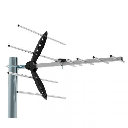 Ghia Antena para Televisión GANT-007 para Exteriores, UHF, Plata