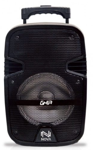 Ghia Bafle GSP-08, Bluetooth, Inalámbrico, 3200W PMPO, USB, Negro