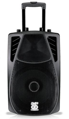 Ghia Bafle GSP-12, Bluetooth, Inalámbrico, 9700W PMPO, USB, Negro