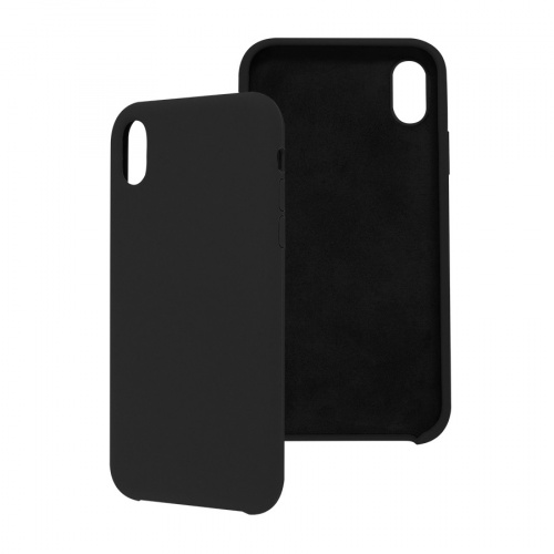 Ghia Funda con Mica AC-8918 para iPhone XR, Negro