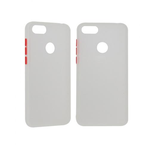 Ghia Funda de Plastico AC-9049 para Motorola E6 Play, Blanco/Semitransparente