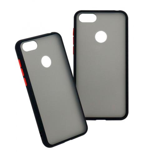 Ghia Funda de Plastico AC-9047 para Motorola E6 Play, Negro/Semitransparente
