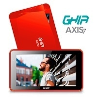 Tablet Ghia AXIS7 7'', 8GB, 1024x600 Pixeles, Android 7.0, Bluetoth 4.0, WLAN, Rojo