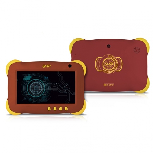 Tablet Ghia Axis Kids 7'', 8GB, 1024 x 600 Pixeles, Android 7.1, WLAN, Rojo/Amarillo