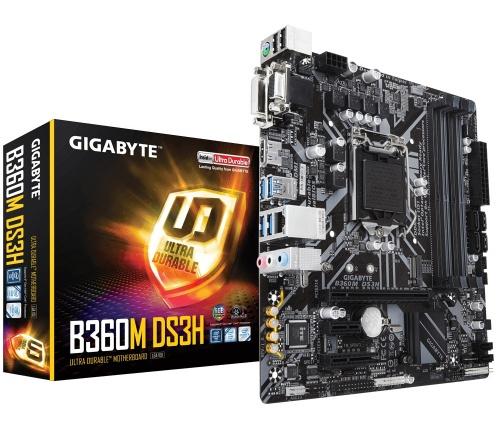 Tarjeta Madre Gigabyte microATX B360M DS3H, S-1151, Intel B360 Express, HDMI, USB 3.0, 64GB DDR4 para Intel