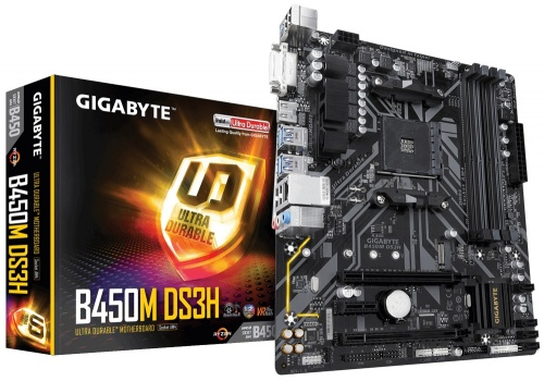 Tarjeta Madre Gigabyte micro ATX B450M DS3H (rev. 1.0), S-AM4, AMD B450, HDMI, 64GB DDR4 para AMD
