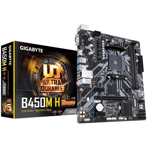 Tarjeta Madre Gigabyte Micro ATX B450M H, S-AM4, AMD B450, HDMI, 32GB DDR4 para AMD ― Requiere Actualización de BIOS para Ryzen Serie 5000