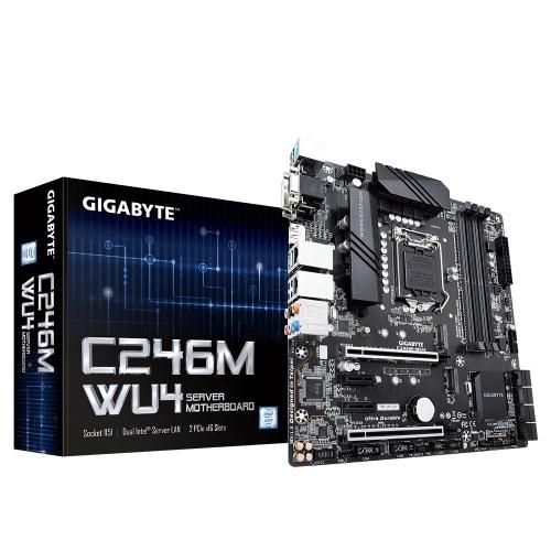 Tarjeta Madre Gigabyte Micro ATX C246M-WU4, S-1151, Intel C246 Express, 128GB DDR4 para Intel