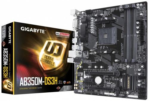 Tarjeta Madre Gigabyte microATX GA-AB350M-DS3H, S-AM4, AMD X370, HDMI, 64GB DDR4 para AMD