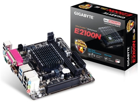 Tarjeta Madre Gigabyte mini ITX GA-E2100N, AMD E1-2100 Integrada, HDMI, 32GB DDR3