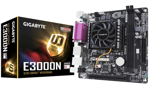 Tarjeta Madre Gigabyte mini ITX E3000N, S-FT3, AMD E2-3000 Integrada, HDMI, 32GB DDR3 para AMD