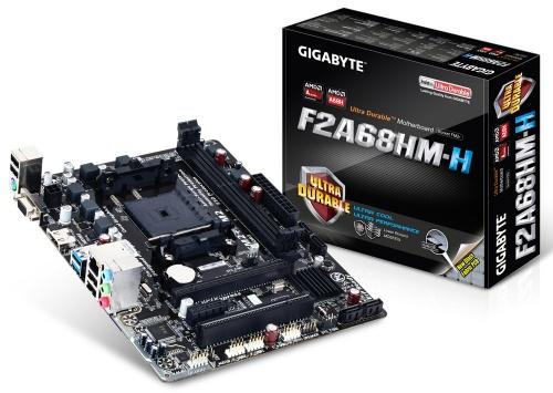 Tarjeta Madre Gigabyte micro ATX GA-F2A68HM-H, S-FM2+, AMD A68H, HDMI, 64GB DDR3, para AMD