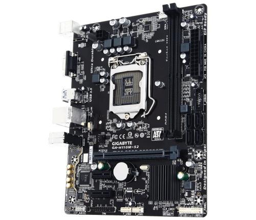 Tarjeta Madre Gigabyte micro ATX GA-H110M-S2, S-1151, Intel H110, 32GB DDR4 para Intel ― Requiere Actualización de BIOS para trabajar con Procesadores de 7ma Generación